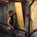 Installing plywood bracing